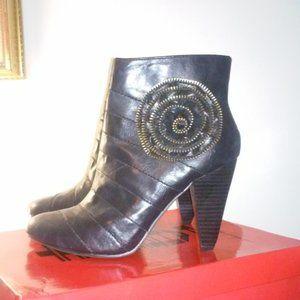 NWOT Beautifully Black Embellished Ankle Boots
